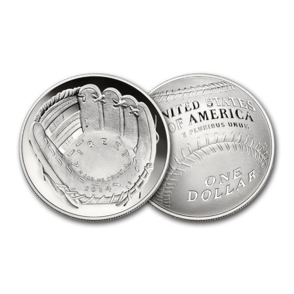 2014-S Baseball Hall of Fame Commemorative Clad Half Dollar Proof
