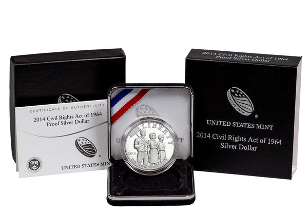 2014 Civil Rights Act Commemorative Silver Dollar Proof