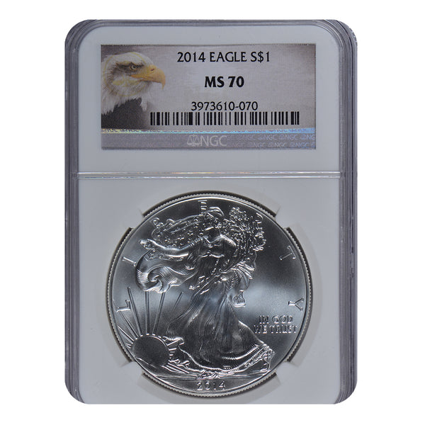 2014 1 oz American Silver Eagle NGC MS70
