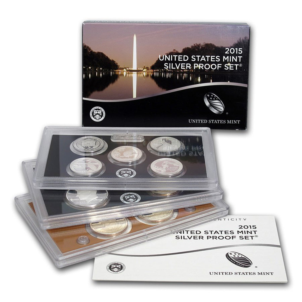 2015-S U.S. Silver Proof Set: Complete 14-Coin Set, with Box and COA