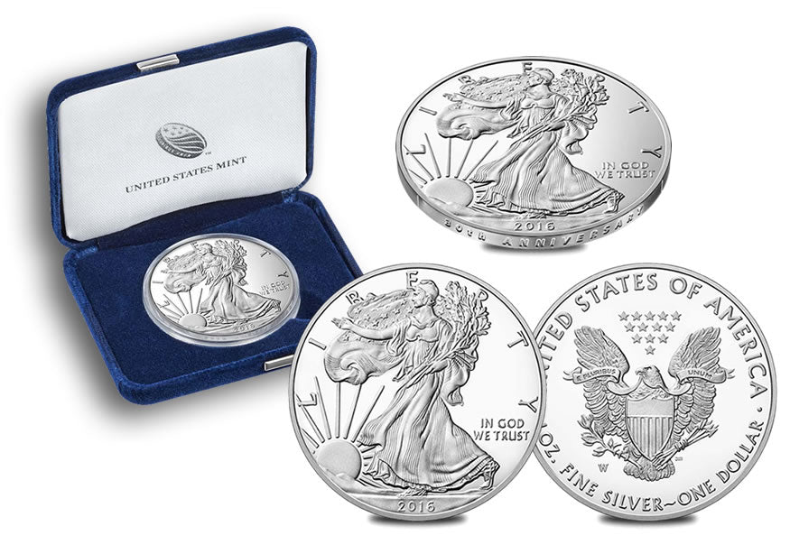 2016-W American Silver Eagle One Ounce Proof Coin 30th Anniversary