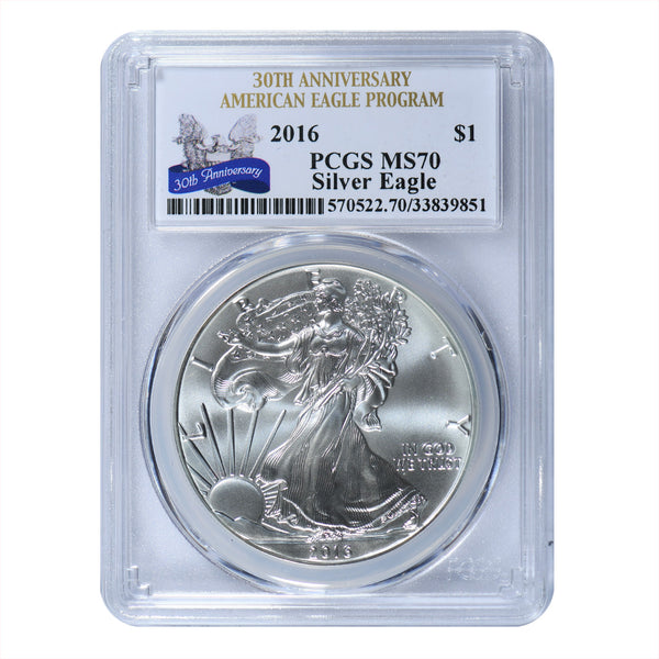 2016 1 Oz American Silver Eagle First Strike PCGS MS70