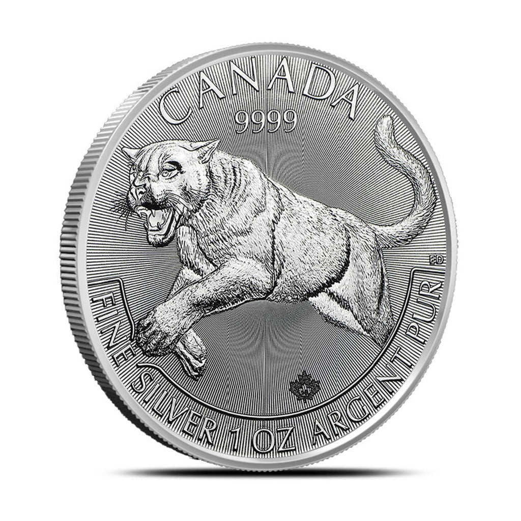 2016 1 oz Canadian Silver Predator Cougar Mint State