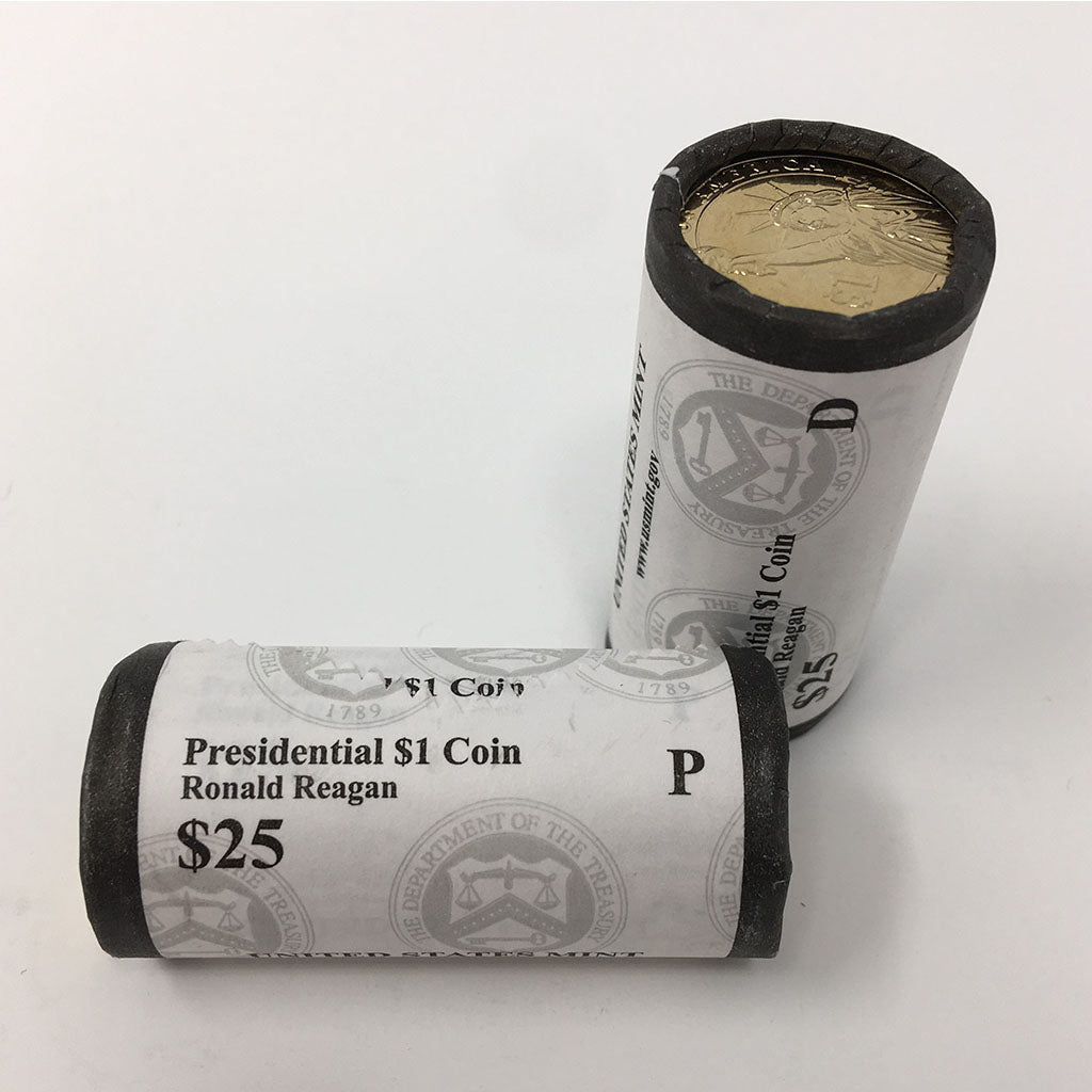 2016 Ronald Reagan Presidential Dollar P&D U.S. Mint Rolls