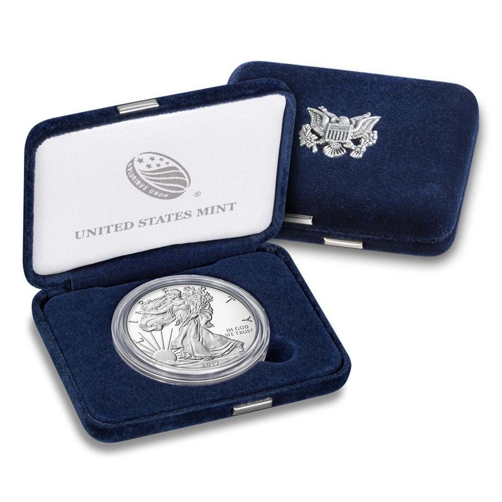 2017-W 1 oz American Silver Eagle Proof With Box and COA