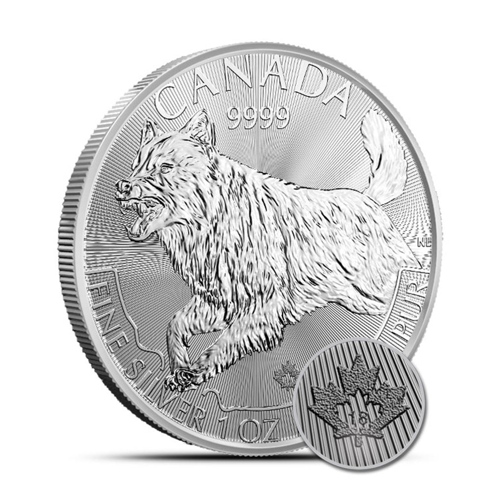 2018 1 oz Canadian Silver Predator Wolf  Mint State