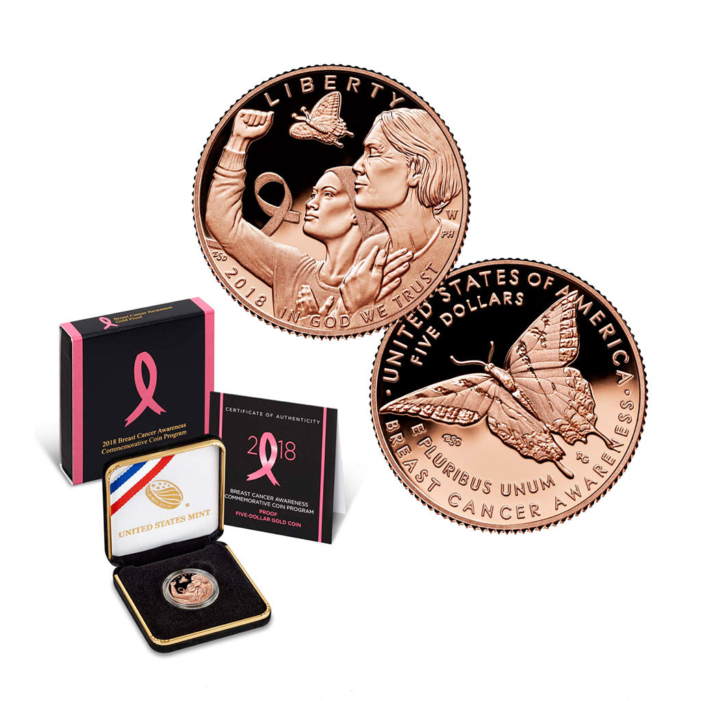 2018 Breast Cancer Awareness Commemorative Five Dollar Gold Proof