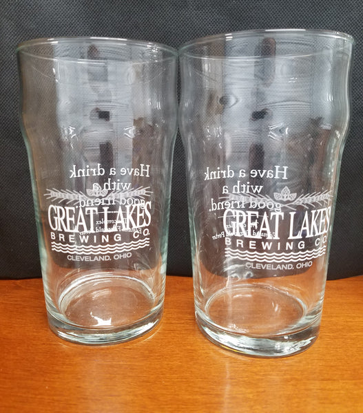 Great Lakes Brewing Fitzgerald Ohio Pint Glasses Set of 2