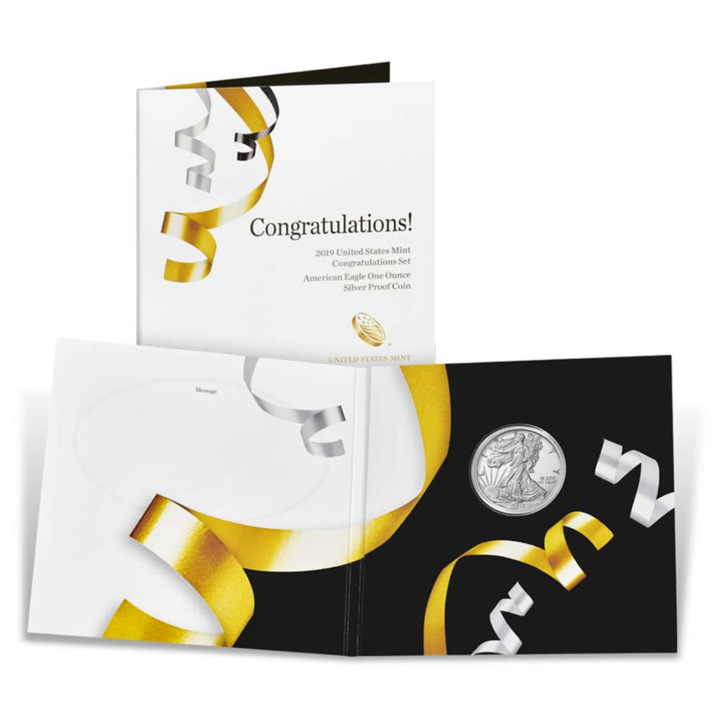 Congratulations! 2019 United States Mint Congratulations Set American Eagle One Ounce Silver Proof Coin