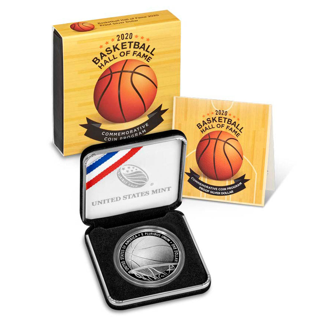 2020 Basketball HOF Commemorative Silver Dollar Proof