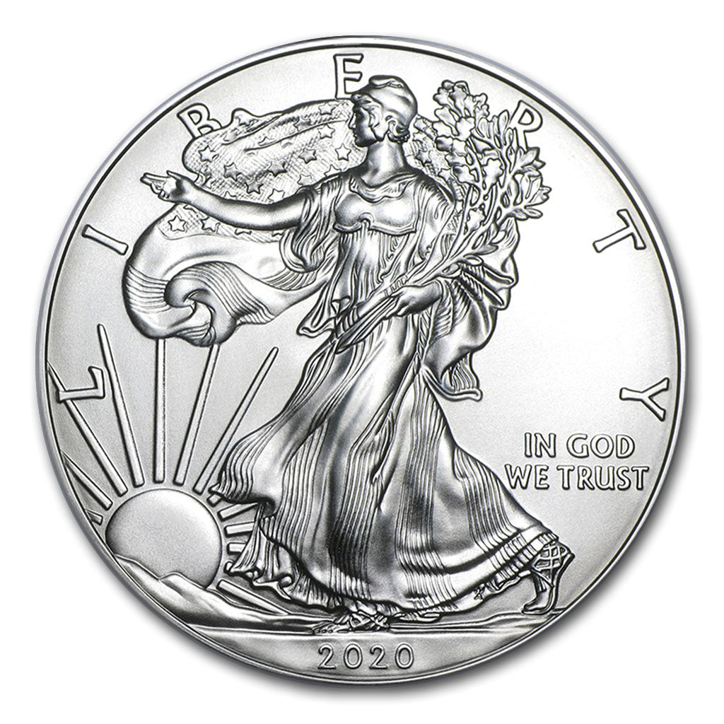 2020 1 oz American Silver Eagle Mint State Box of 500