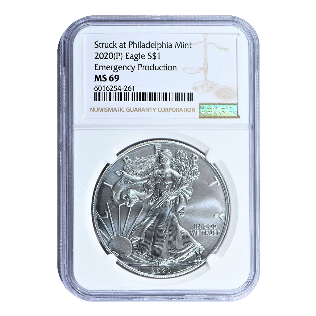 2020-P American Silver Eagle Emergency Production NGC MS69