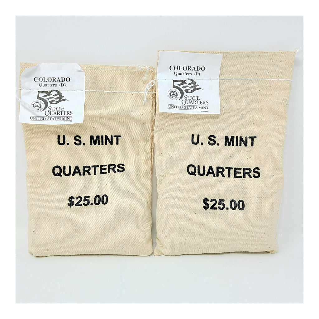 2006 U.S. Mint, Colorado Quarters, $25 P+D UNC Bags