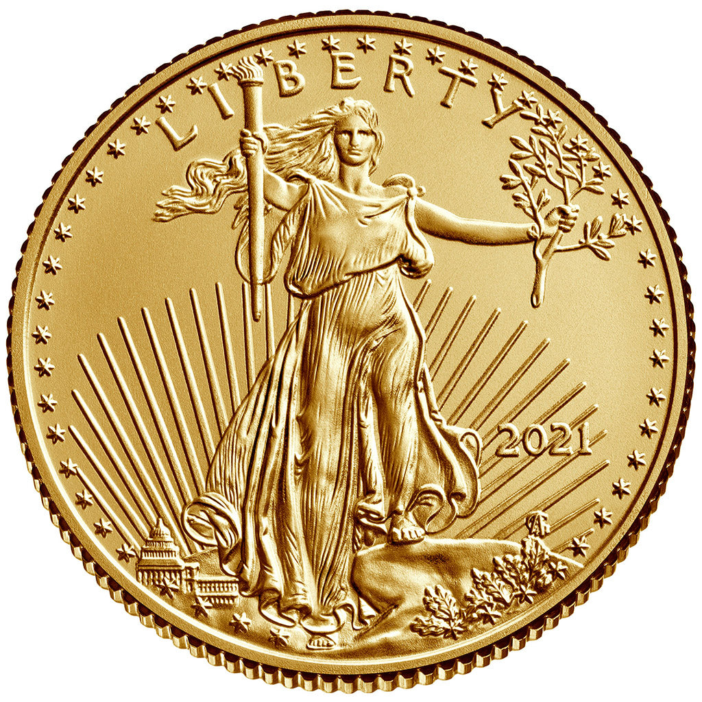 2021 1/4 oz American Gold Eagle Mint State (Type 1)