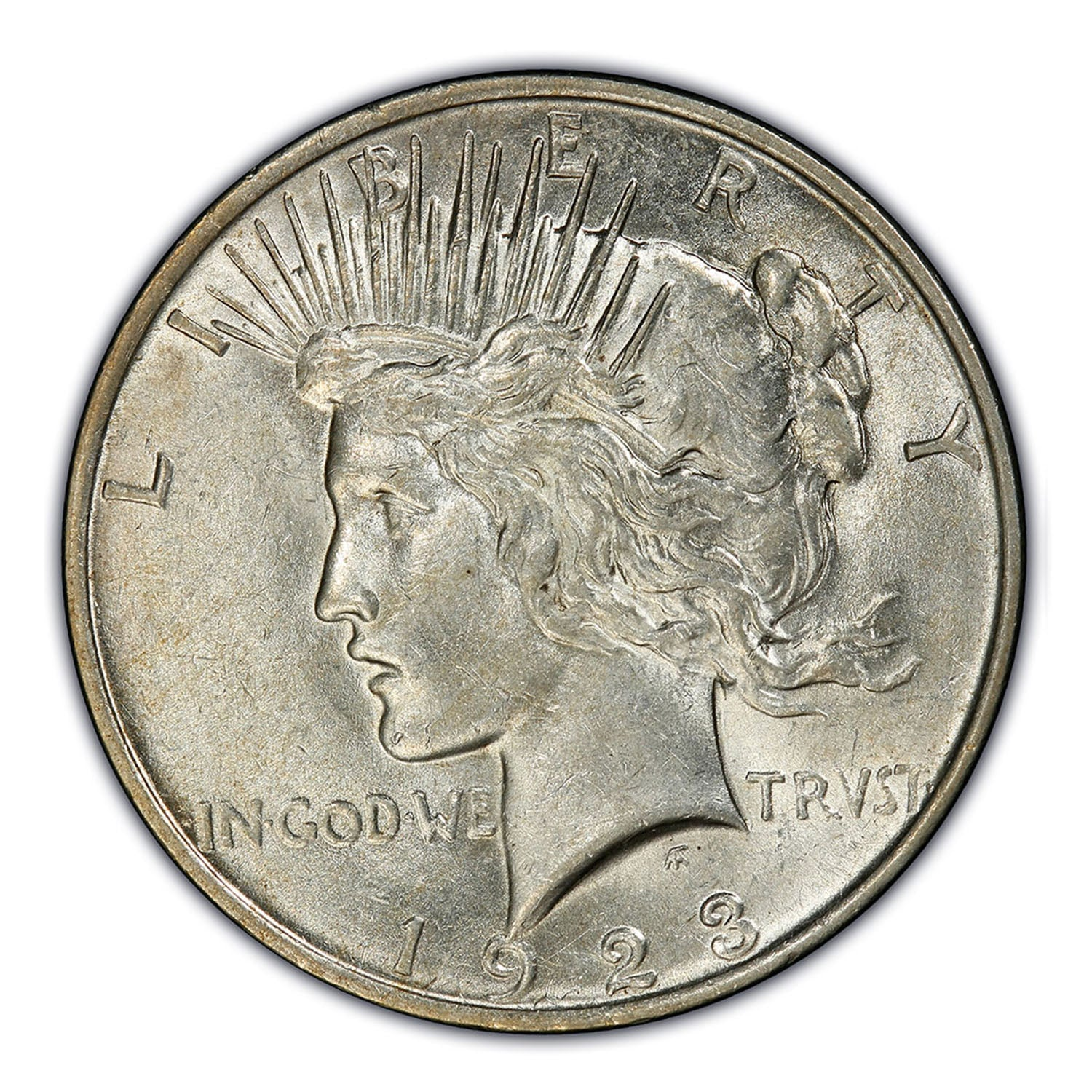 1922-1926 Peace Silver Dollar & Deluxe Box