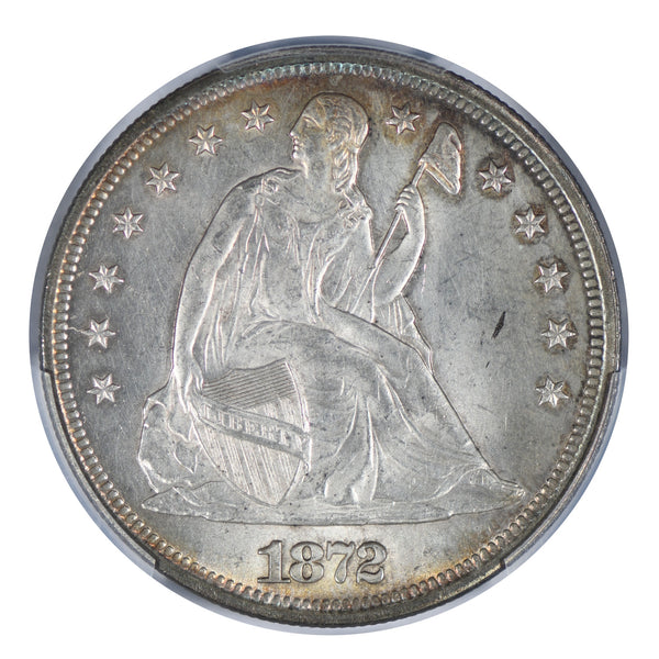 1872 Seated Liberty Dollar PCGS MS63