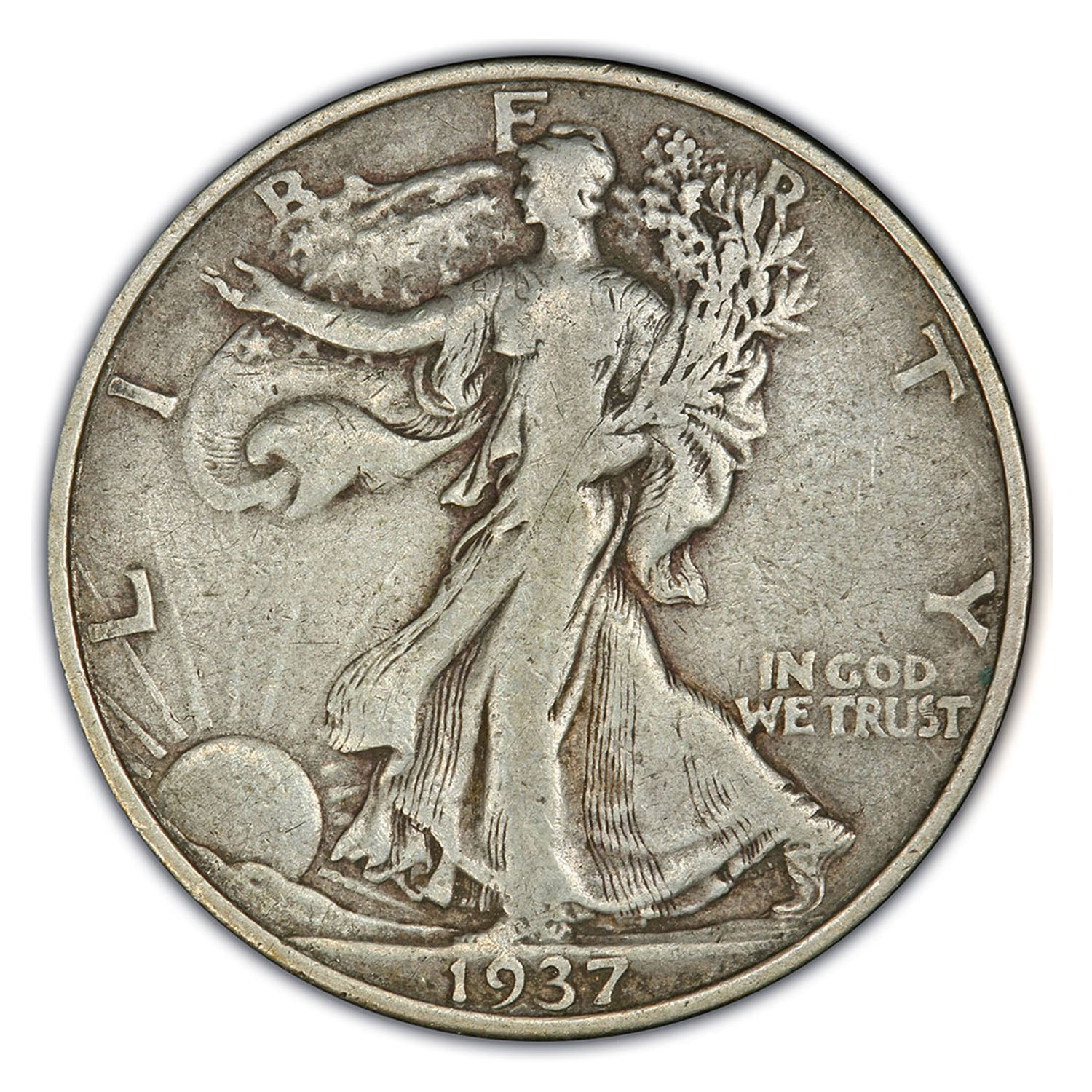 1933-1947 Walking Liberty Silver Half Dollar & Deluxe Box