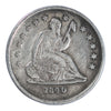 1840-O Seated Liberty Quarter No Drapery Very Fine Condition