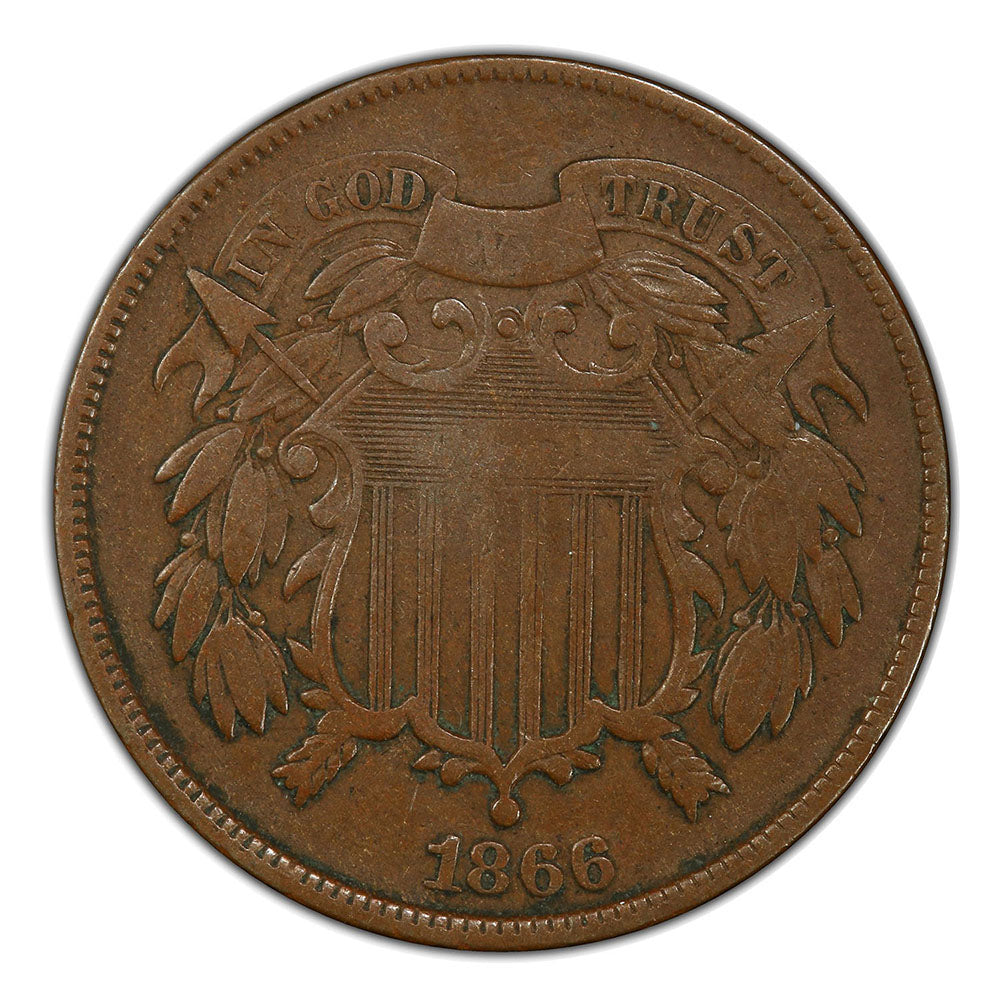 U.S. Two Cent Piece (1864-1871) // Icons of American Coinage Series // Deluxe Display Box