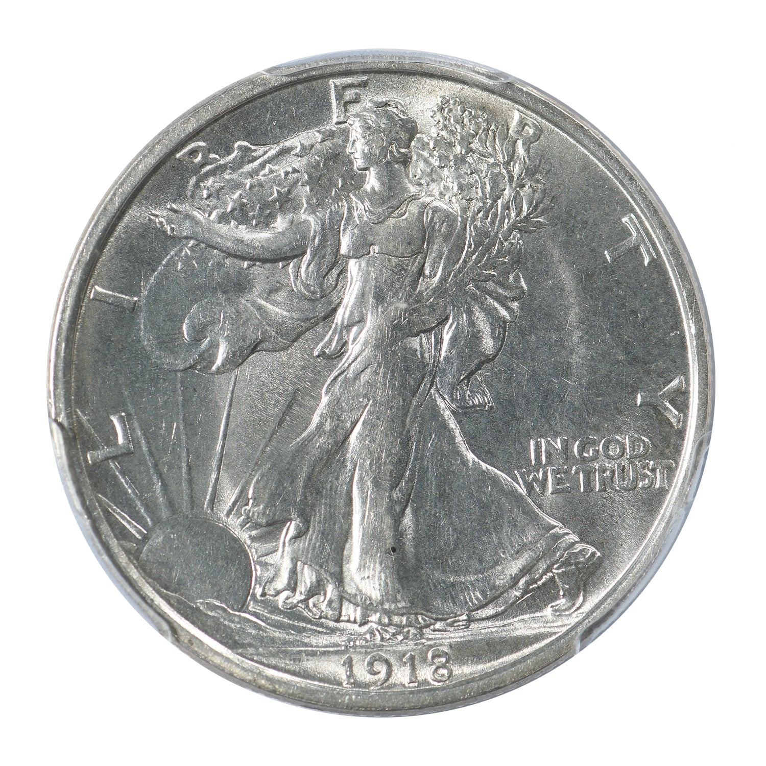 1918-D Walking Liberty Half Dollar PCGS Certified MS62