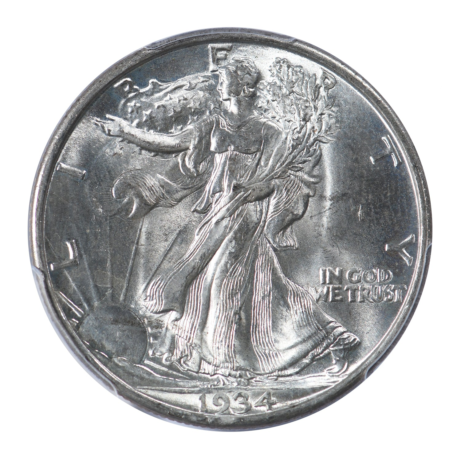 1934-D Walking Liberty Half Dollar PCGS & CAC Certified MS64+