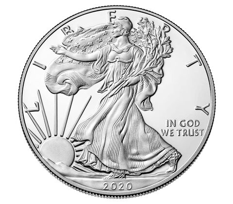 2020 1 oz American Silver Eagle Mint State Condition