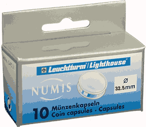 32.5mm - Coin Capsules (pack of 10)