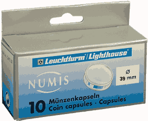 39mm - Coin Capsules (pack of 10)