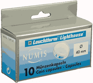 40mm - Coin Capsules (pack of 10)