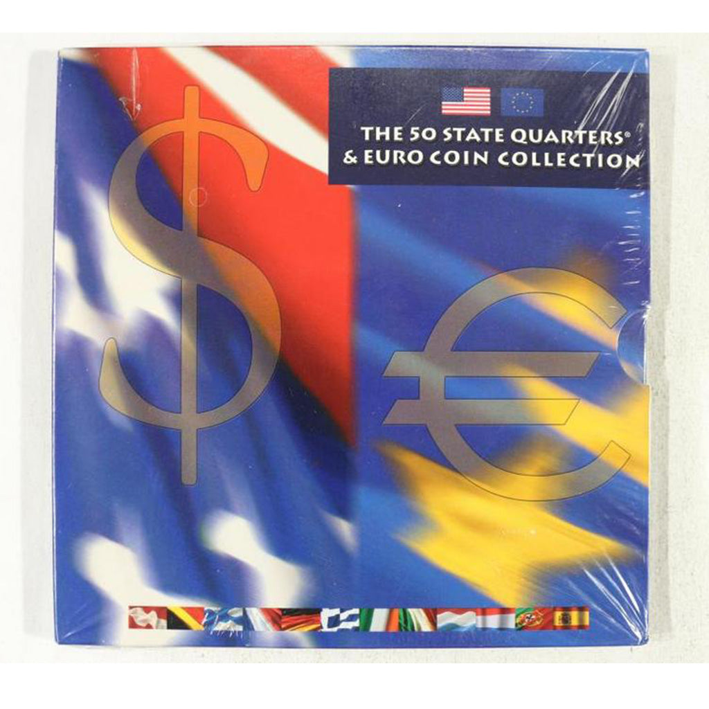2002 50 State Quarters And Euro Coin Collection Sealed