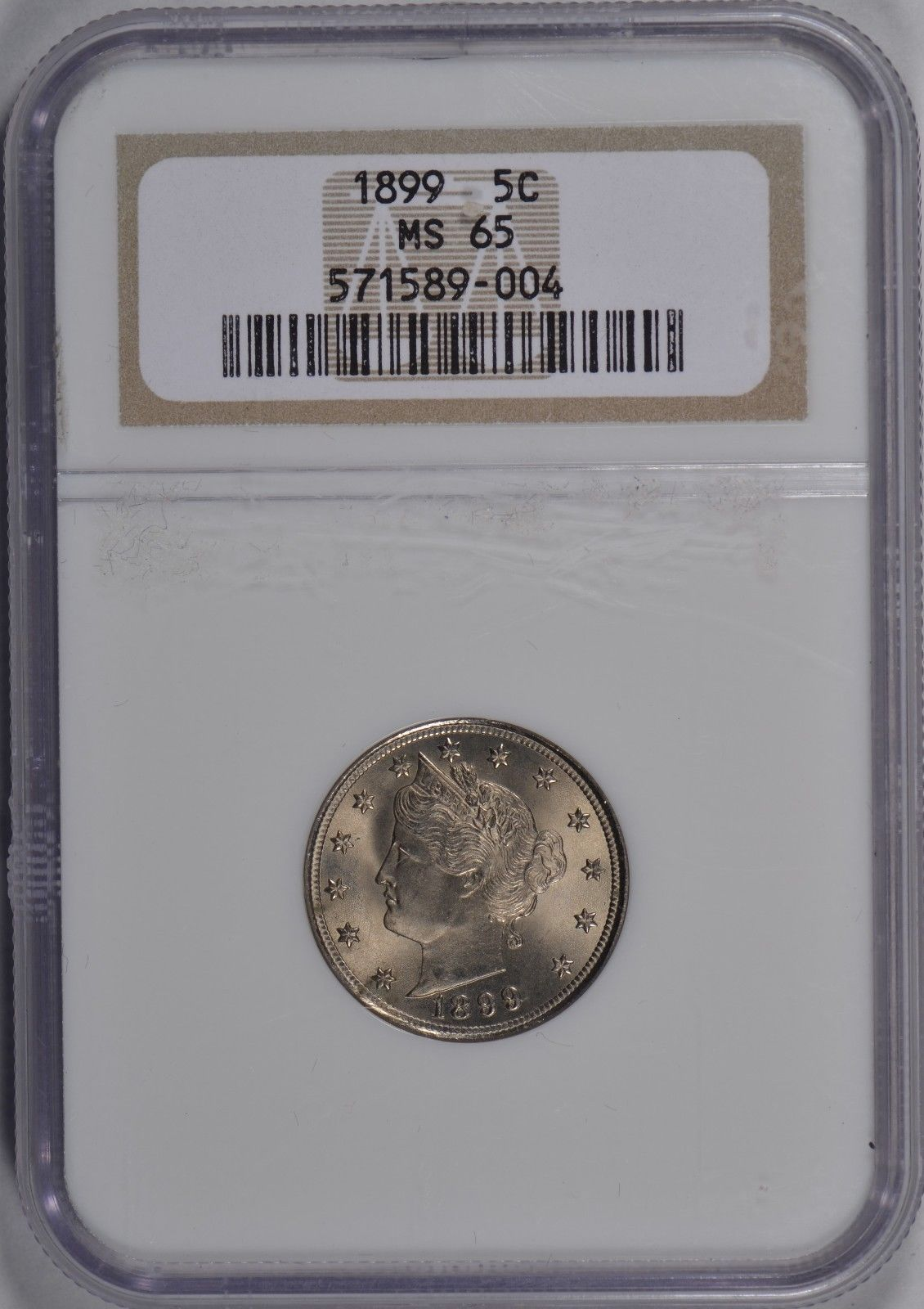 1899 Liberty Head Nickel NGC MS65