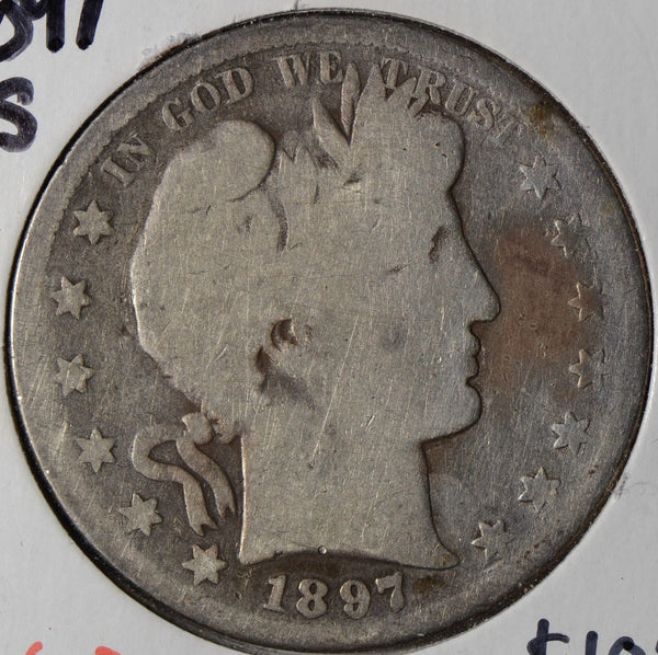 1897-S Barber Half Dollar About Good