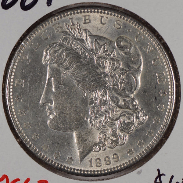 1889 Morgan Silver Dollar Mint State #164608