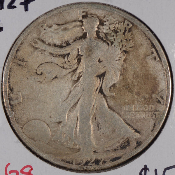 1927-S Walking Liberty Half Dollar Good Condition #170714