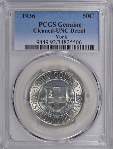 1936 York Silver Commemorative Half Dollar PCGS Genuine Cleaned #172225