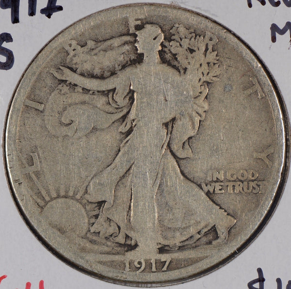 1917-S Walking Liberty Half Dollar Rev MM Very Good #176251