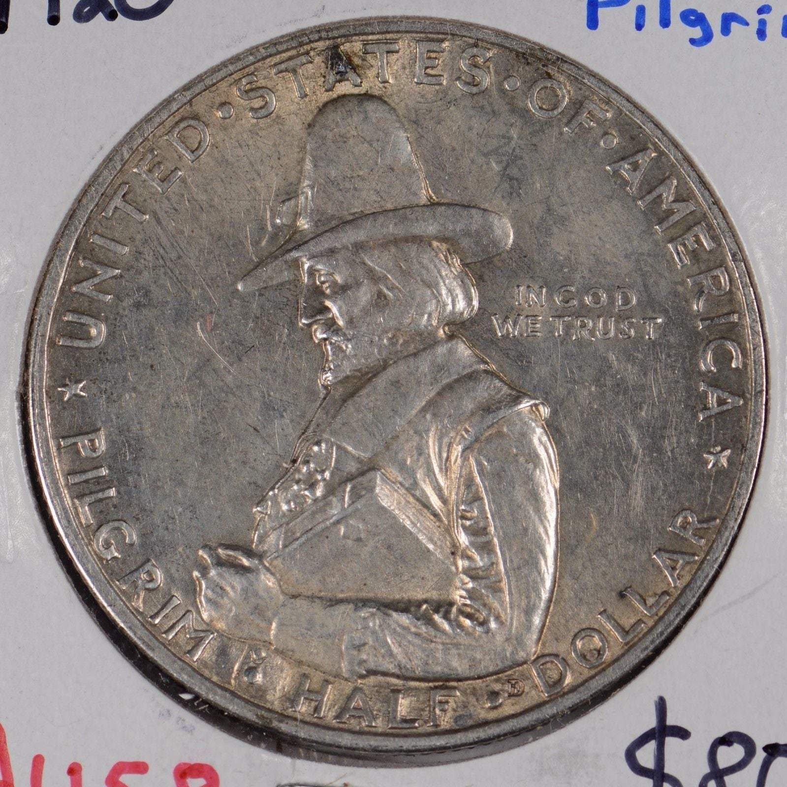 1920 Pilgrim Silver Commemorative Half Dollar About Uncirculated #164988