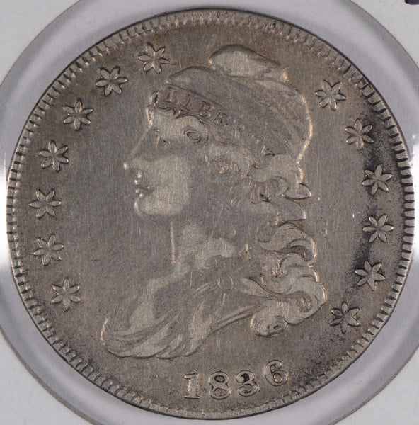 "1836 Capped Bust Half Dollar ""Lettered Edge"" Very Fine #173256"