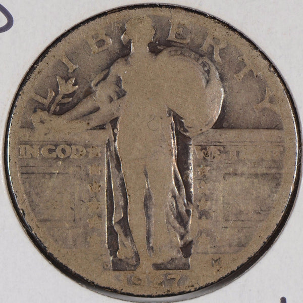 1927-D Standing Liberty Quarter About Good