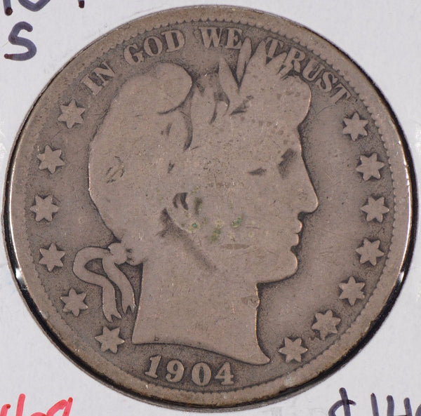 1904-S Barber Half Dollar Very Good Condition #171455