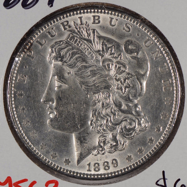1889 Morgan Silver Dollar Mint State #164057