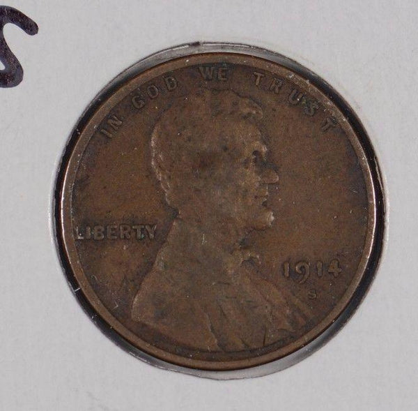 1914-S Lincoln Wheat Cent Very Fine