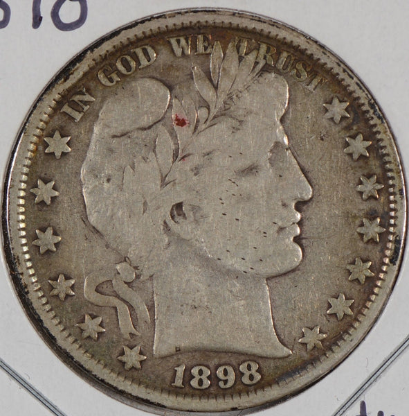1898 Barber Half Dollar Fine Condition #155014
