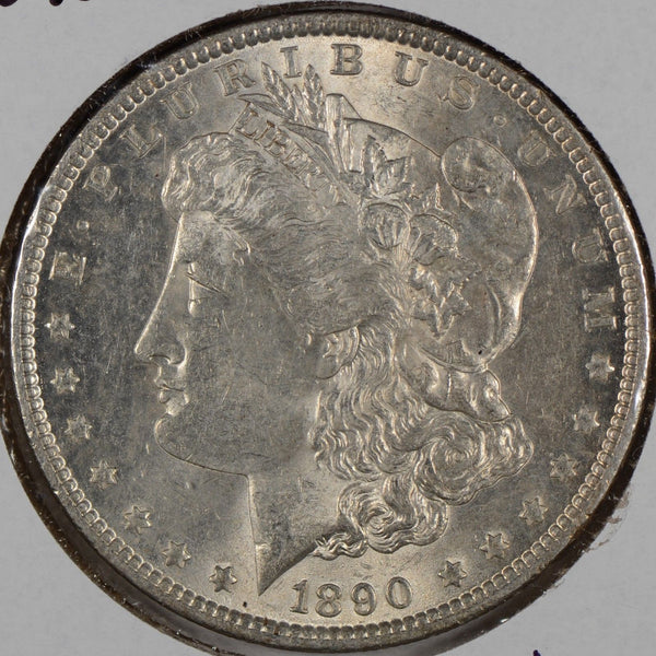 1890 $1 Morgan Silver Dollar About Uncirculated #174819