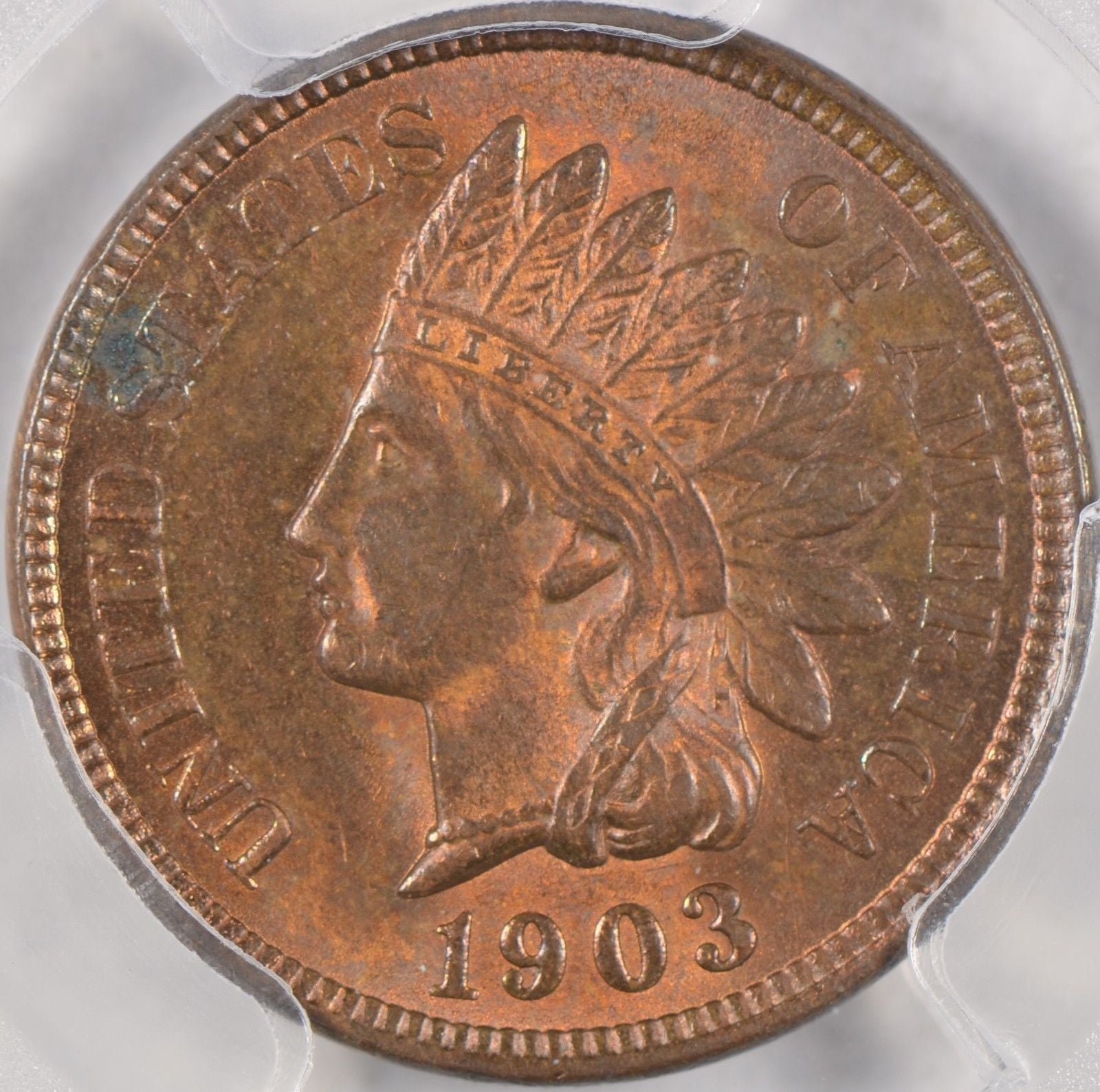 1903 Indian Cent PCGS MS63RB