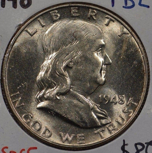 1948 Franklin Half Dollar Mint State #135985