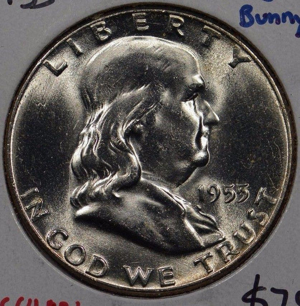 1955 Franklin Half Dollar Mint State #143367