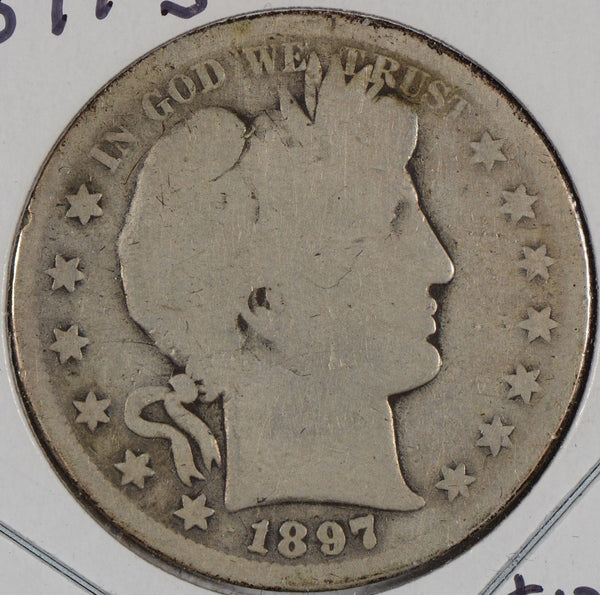 1897-S Barber Half Dollar About Good Condition #150436
