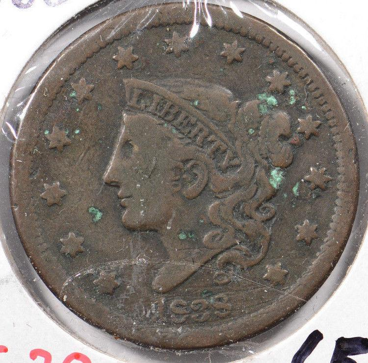 1838 Coronet Head Large Cent Very Fine Condition #143221