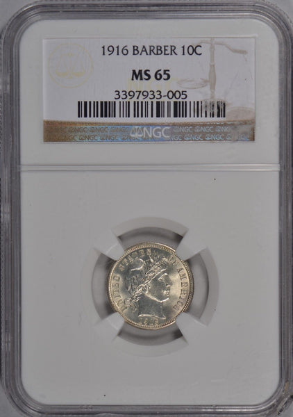 1916 Barber Dime NGC MS65 #181094